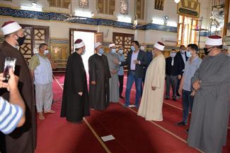 محافظ الدقهلية يتفقد مسجد النصر بالمنصورة للاطمئنان على استعدادات الفتح   صور
