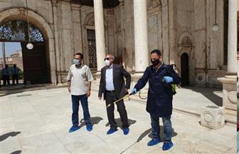 أسامة طلعت يجتمع مع مفتشي آثار منطقة قلعة صلاح الدين لمتابعة أعمال التعقيم الدوري للمنطقة | صور