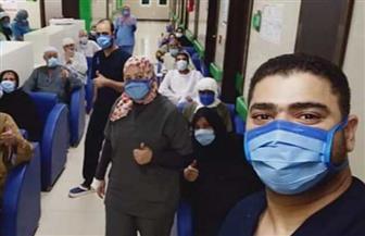 خروج 13 حالة من مستشفى العزل الصحي بالأقصر بعد تعافيهم من كورونا| صور