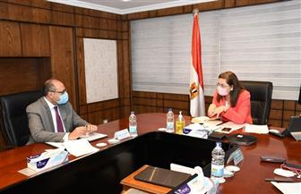 وزيرة التخطيط تناقش برامج التعاون مع مستشار منظمة العمل الدولية| صور