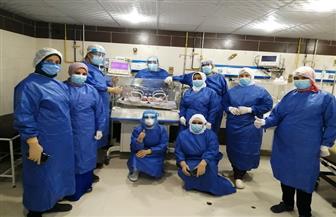 مستشفى قنا العام ينجح في إجراء أول عملية ولادة قيصرية لمصابة بفيروس كورونا| صور