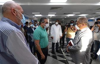 وزير السياحة والآثار يتفقد إجراءات الحماية والوقاية بمستشفى العلمين | صور
