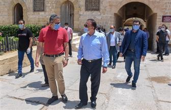 العناني ومحافظ الإسكندرية يتفقدان قلعة قايبتاي الأثرية ومتحف المجوهرات الملكية | صور