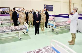 الرئيس السيسي يتفقد تجهيزات القوات المسلحة للعزل الصحي والمستشفيات الميدانية بأرض المعارض| صور