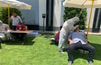 مسحة طبية لموظفي اتحاد الكرة لمواجهة فيروس كورونا | صور