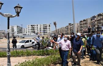 محافظ بورسعيد يتابع سير العمل  بميناء بورسعيد البري والحديقة الدولية الجديدة | صور