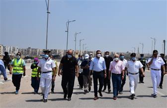 محافظ بورسعيد يتفقد منفذ الحي الإماراتي على الدائري ومحور 30 يونيو | صور