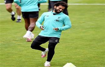 محمد صلاح يستعد لمواجهة مانشستر سيتي بمران حماسي |صور