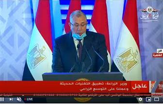 وزير الزراعة: نواصل العمل على مشروعات ضخ المياه إلى شمال ووسط سيناء
