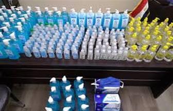 ضبط 400 كمامة وعبوات كحول مجهولة المصدر قبل بيعها للمواطنين بسوهاج