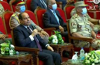الرئيس السيسي: الحنية مش طبطبة بل تنفيذ مشروعات تخدم المواطنين