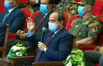 """الرئيس السيسي: """"محتاجين نتعلم نواجه مشاكلنا.. والأحياء أسهمت في تفاقم مشكلة البناء المخالف"""""""