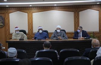 لجنة المصالحات بالأزهر تنهي خصومة ثأرية بين عائلتين في بني سويف   صور