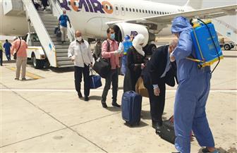 مطار مرسى علم  يستقبل رحلة جديدة من مطار جدة تقل 165 من المصريين العالقين | صور