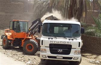 حملة نظافة شمال الأقصر ترفع 28 طن مخلفات | صور