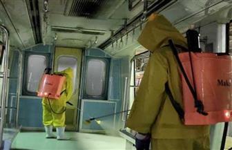 شركة المترو تواصل أعمال التطهير والتعقيم للمحطات والقطارات بالخطوط الثلاثة | صور