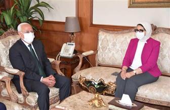 محافظ بورسعيد يستقبل وزيرة الصحة في زيارتها لتفقد المستشفيات والوحدات الصحية | صور