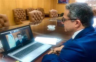 «العناني» يجتمع بمدير «إيسيسكو» لبحث التعاون بين مصر والمنظمة في العمل الأثري| صور