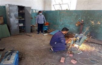 تشغيل ورشة اللحام بمركز الصيانة في سفاجا بعد توقفها لسنوات | صور