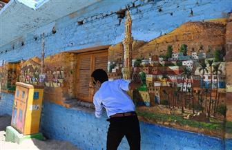 كيف تحولت المنازل القديمة بالصعيد لأعمال فنية على يد مبادرة «الفن يحارب كورونا»؟   صور