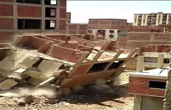 الجيزة: إزالة 15 عقارا مخالفا بالأحياء وتعديات على أراضي أملاك الدولة بالعياط | صور