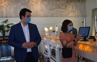 قنصل عام فرنسا تشاهد الإجراءات الاحترازية داخل أحد فنادق الإسكندرية| صور