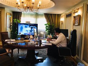 وزير التعليم العالي يفتتح المؤتمر الافتراضي الدولي لجامعة حلوان عن فيروس كورونا   صور