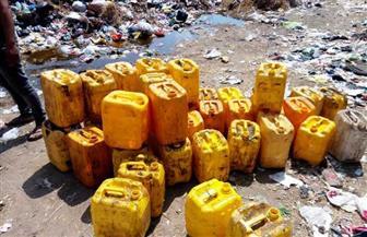 إعدام 869 لتر زيت طعام وعصائر و183 كيلو أغذية فاسدة بمركز أولاد صقر   صور