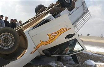 إصابة ٩ عاملات إثر انقلاب سيارة بالعياط