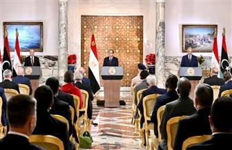 ننشر نص كلمة الرئيس السيسي خلال المؤتمر الصحفي المشترك مع عقيلة وحفتر بشأن الأزمة الليبية