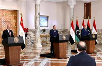 الرئيس السيسي: استقرار ليبيا لن يتم إلا بتسوية للأزمة تتضمن وحدتها واستقرارها