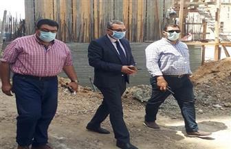 نائب محافظ الغربية يتفقد أعمال رصف وتطوير شارع الكورنيش بطنطا| صور