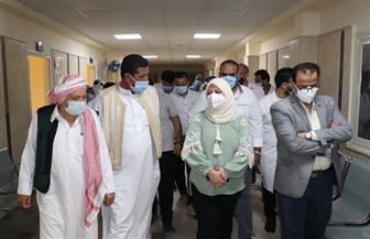نائبة محافظ مطروح تتفقد المستشفيات للاطمئنان على توافر المستلزمات الطبية| صور