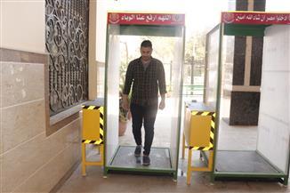 جامعة المنصورة: توزيع 60 بوابة تعقيم ذاتي على الكليات والمستشفيات والمراكز الطبية | صور