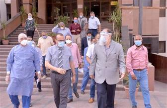 محافظ أسيوط يتفقد مستشفى عزل الراجحي والمدينة الجامعية للطالبات | صور
