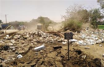 حملة مكبرة لإزالة التعديات على أراضي أملاك الدولة بالأقصر | صور