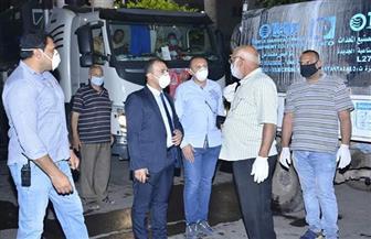 حملة لتطهير وتعقيم عدد من مناطق مدينة دمياط| صور