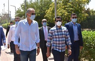 وزير الرياضة يتفقد أندية الأهلي والجزيرة والصيد في أول أيام عودة النشاط | صور