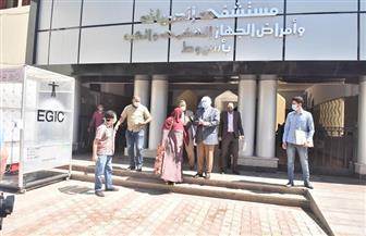 محافظ أسيوط يتفقد أعمال التطوير بأقسام مستشفى الحميات | صور