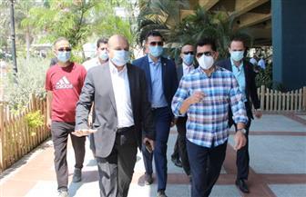 وزير الرياضة يتفقد مركز شباب الجزيرة بعد عودة النشاط | صور