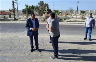 محافظ مطروح يتفقد أعمال تطوير شوارع  مدينة الضبعة|صور