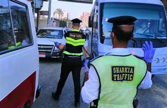 تغريم 87 سائقا بسبب الكمامة في الزقازيق