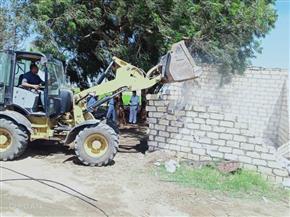 تنفيذ 28 حالة إزالة تعد على أملاك الري والأراضي الزراعية بسوهاج