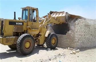 إزالة 10 حالات تعد على مساحة 1750 مترا من أراضي الدولة في مرسى علم| صور