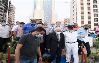 محافظ بورسعيد يفتتح ميدان الشهيد هشام عباس | صور