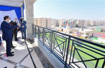 """الرئيس السيسي يتفقد المرحلة الثالثة من """"الأسمرات"""""""