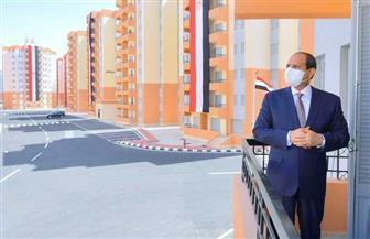 """الرئيس السيسي: تكلفة الوحدة السكنية الواحدة 600 ألف جنيه .. """"ولو هناخد إيجار يبقى 5 آلاف في الشهر"""""""