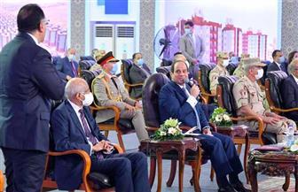 الرئيس السيسي: إنشاء 250 ألف وحدة سكنية لإعادة تسكين أهالي المنطقة غير الآمنة
