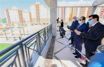 """الرئيس السيسي يصل مقر افتتاح عدد من المشروعات القومية من بينها المرحلة الثالثة من """"الأسمرات ٣"""""""