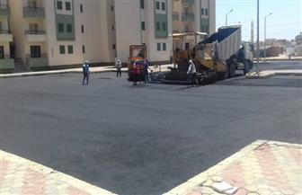 وزير الإسكان: جار تنفيذ أعمال الطرق بعدد من مناطق الإسكان الاجتماعي بمدينة العاشر من رمضان|صور